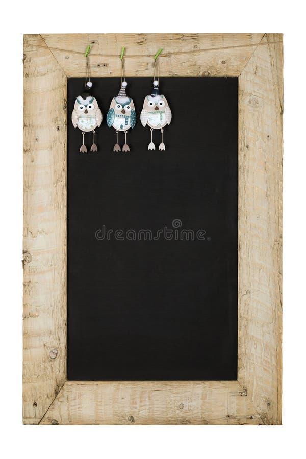 Wesoło bożych narodzeń nowy rok Chalkboard Blackboard Odzyskujący drewno F obrazy stock
