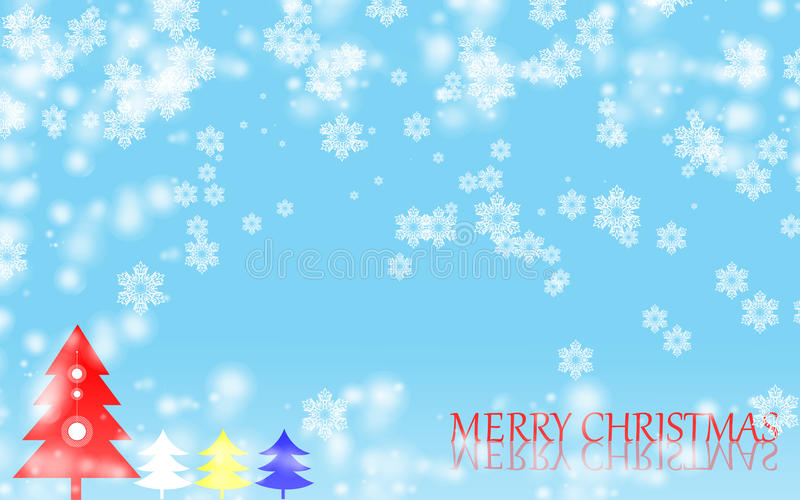 Wesoło bożych narodzeń płatka śniegu tło obraz royalty free