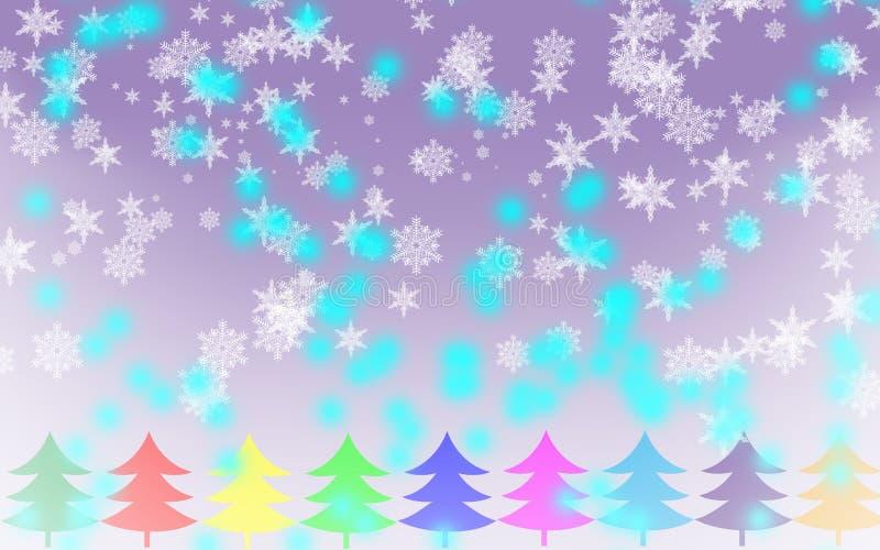 Wesoło bożych narodzeń płatka śniegu tło zdjęcie stock