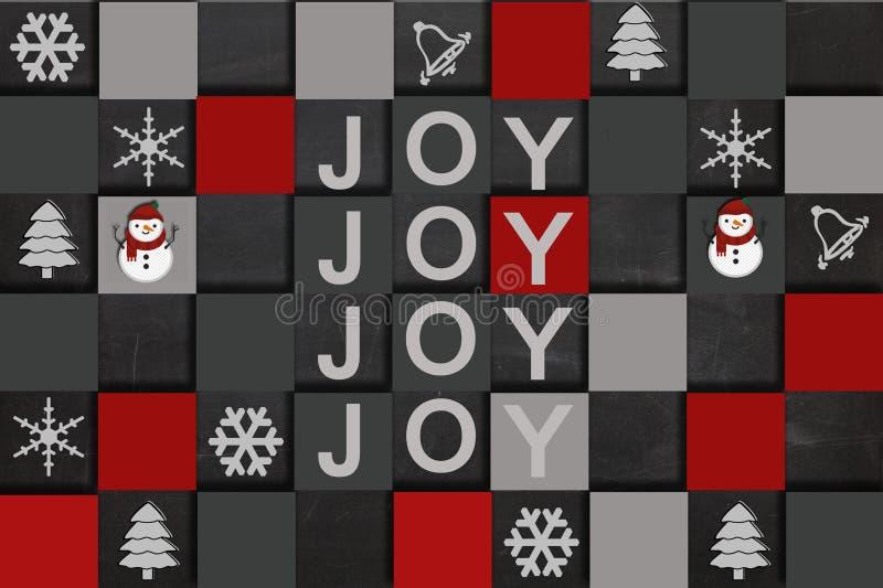 Wesoło bożych narodzeń radość obrazy royalty free