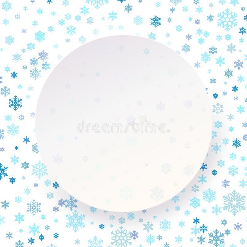 Wesoło bożych narodzeń Szczęśliwego nowego roku okręgu etykietki biały szablon dla plakata, sztandar, karta, ulotka, plakat 10 ep ilustracji