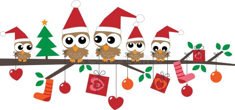 Wesoło bożych narodzeń szczęśliwi wakacje ilustracja wektor