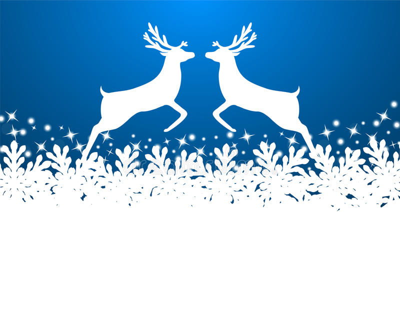Wesoło bożych narodzeń tło z płatkami śniegu ilustracja wektor