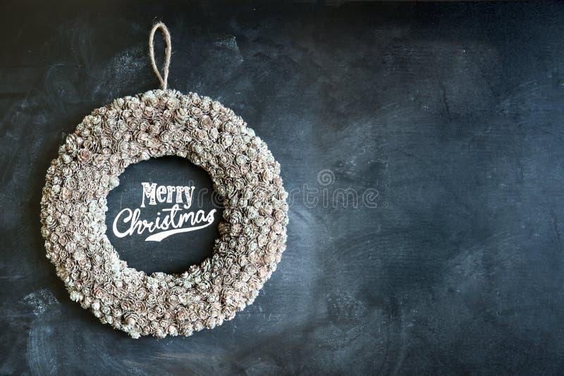 Wesoło Bożych Narodzeń Wianek fotografia royalty free