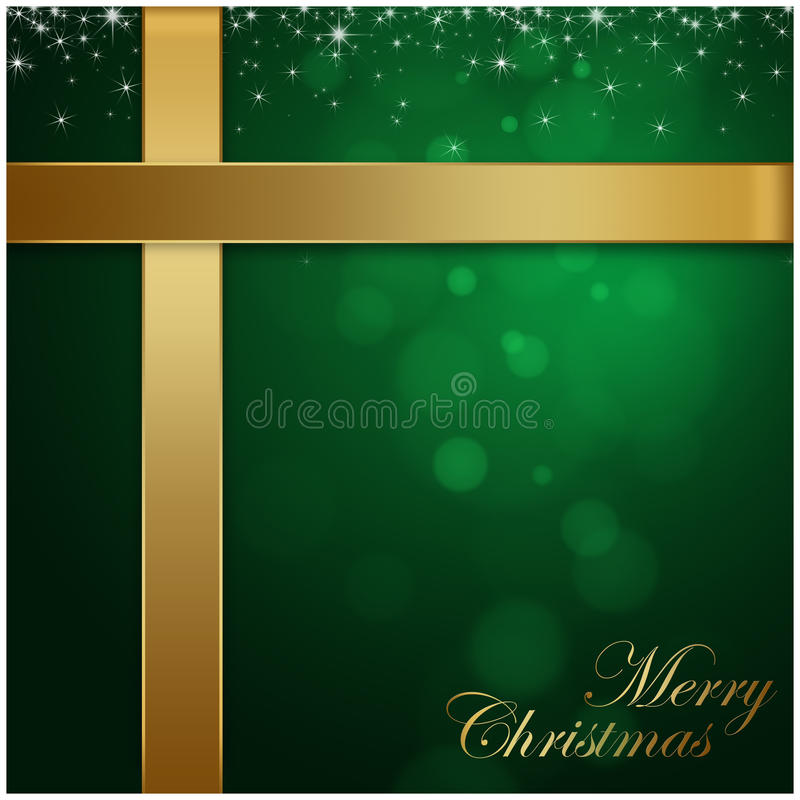 Wesoło Bożych Narodzeń zielony tło ilustracji