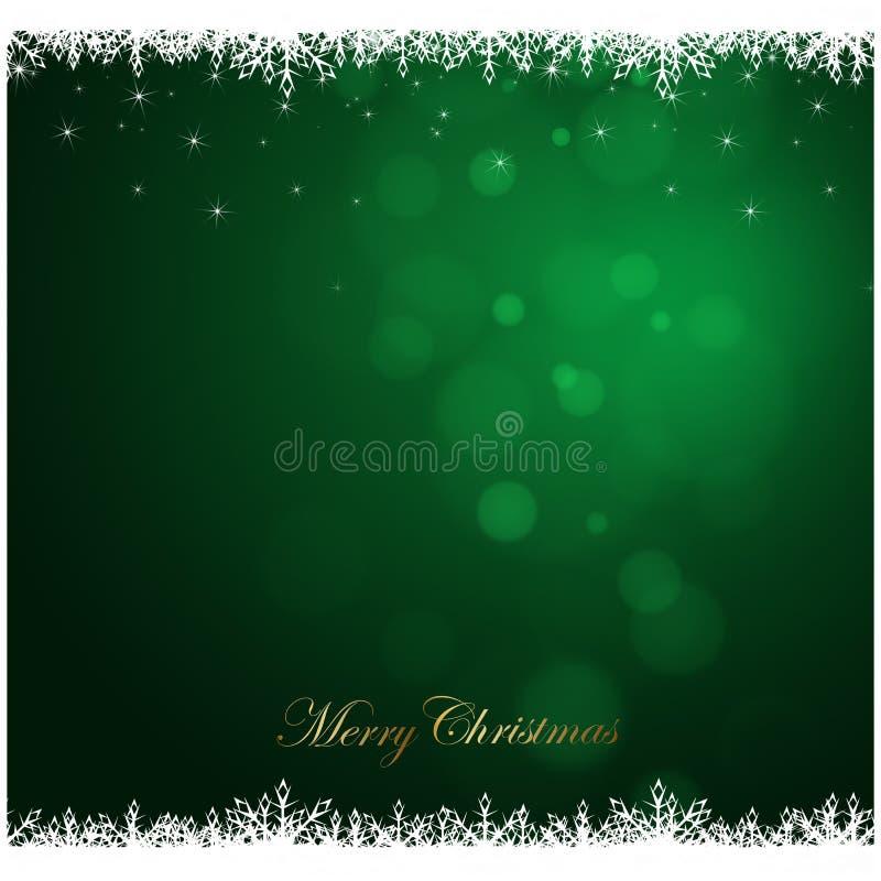 Wesoło bożych narodzeń zielony tło, sezon wakacyjny royalty ilustracja
