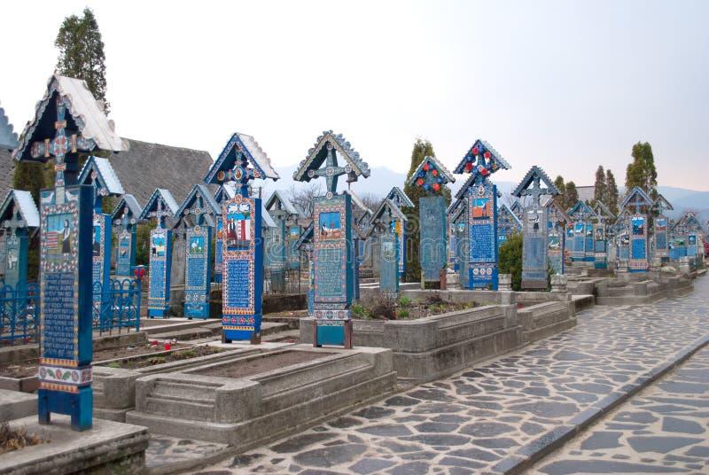 Wesoło cmentarz od Sapanta zdjęcia royalty free