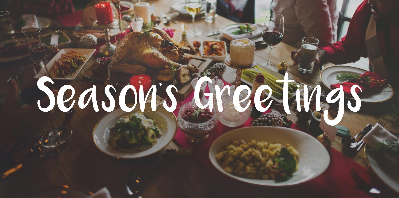 Wesoło Jaskrawy sezonu powitania świętowanie obraz stock