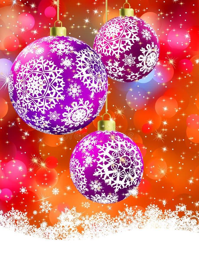 Wesoło kartka bożonarodzeniowa EPS 8 ilustracja wektor