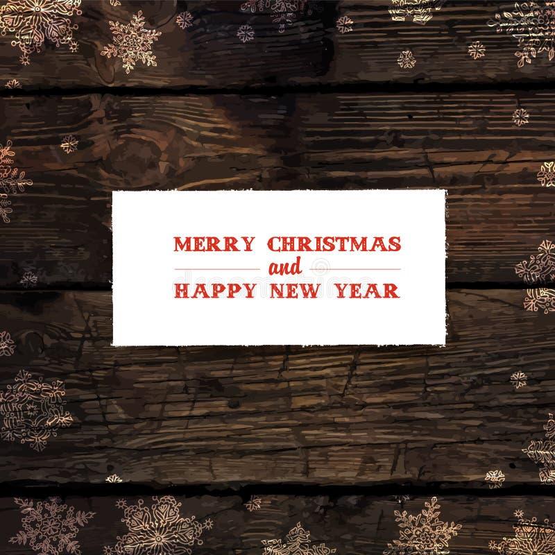 Wesoło kartka bożonarodzeniowa projekt wektor ilustracji