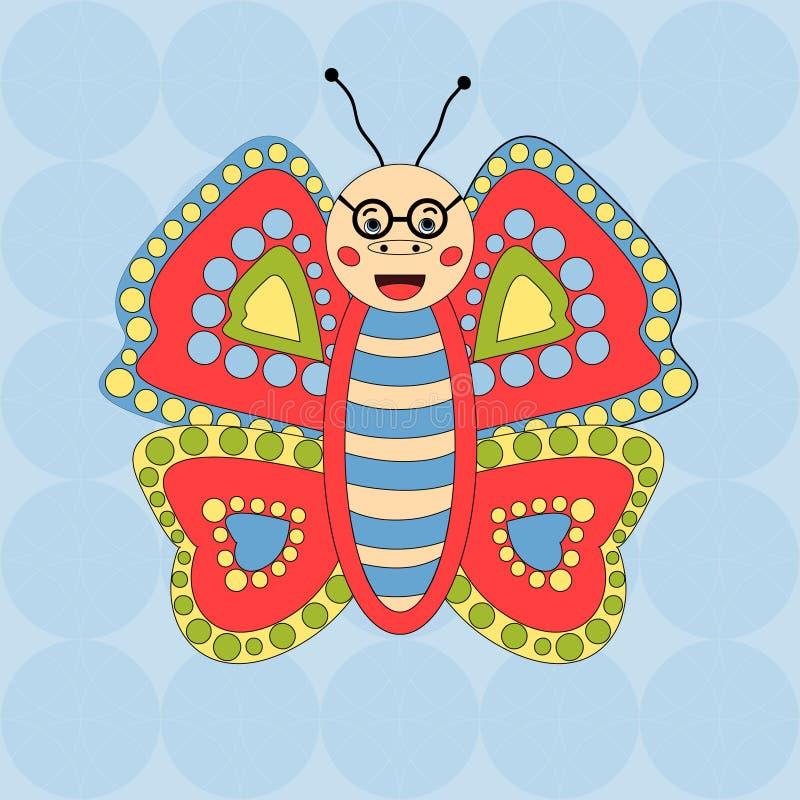 Wesoło motyli szkła na bezszwowym tle ilustracji