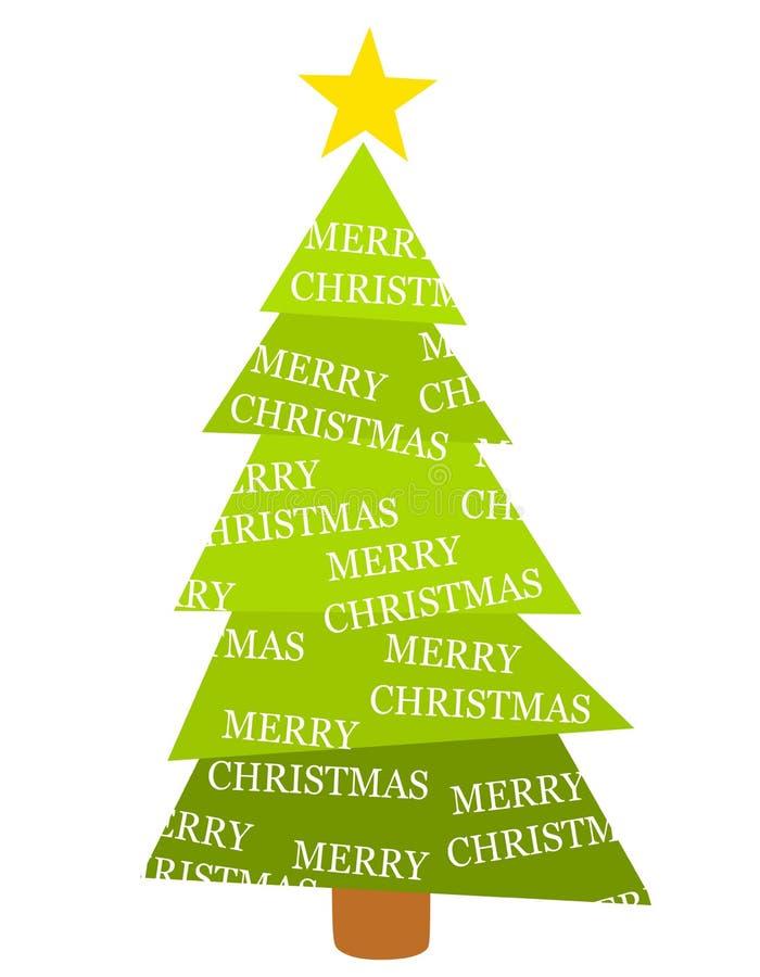 wesołych Świąt odizolowane drzewa royalty ilustracja