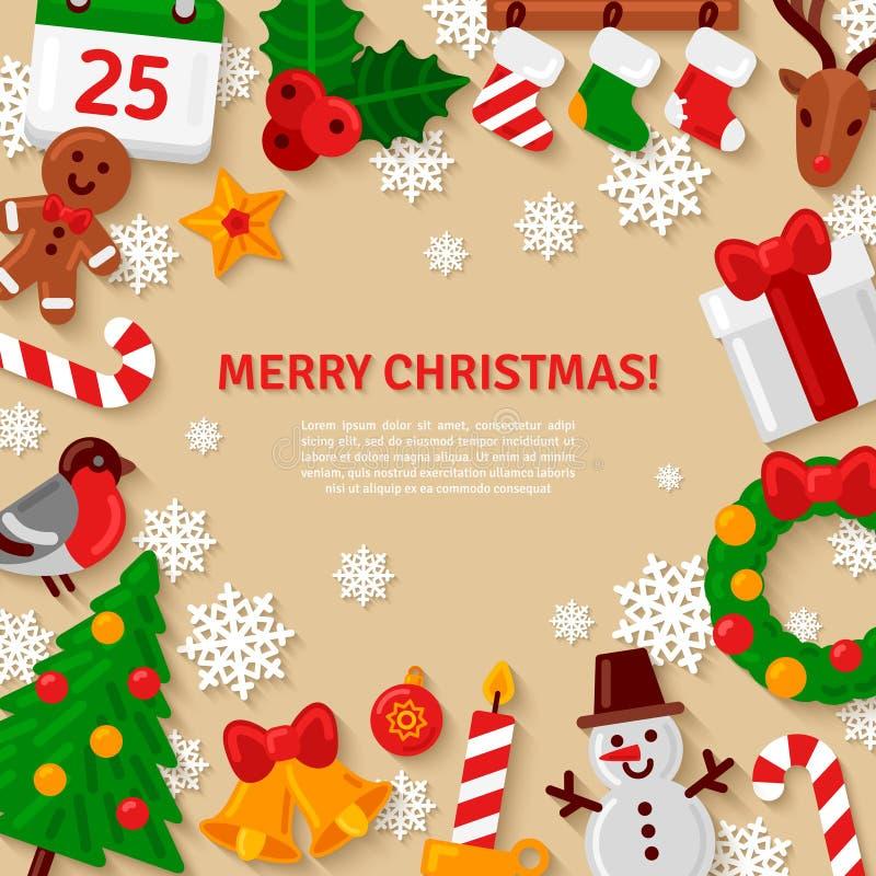 wesołych Świąt, również zwrócić corel ilustracji wektora royalty ilustracja