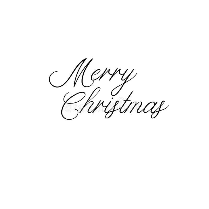 wesołych Świąt Wakacyjna kaligrafia Ręcznie pisany szczotkarski literowanie dla kartka z pozdrowieniami, plakat, zaproszenie, szt ilustracja wektor