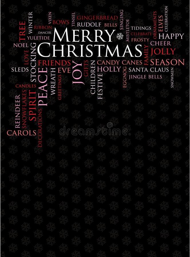 wesołych Świąt wakacyjnego innego słowa royalty ilustracja