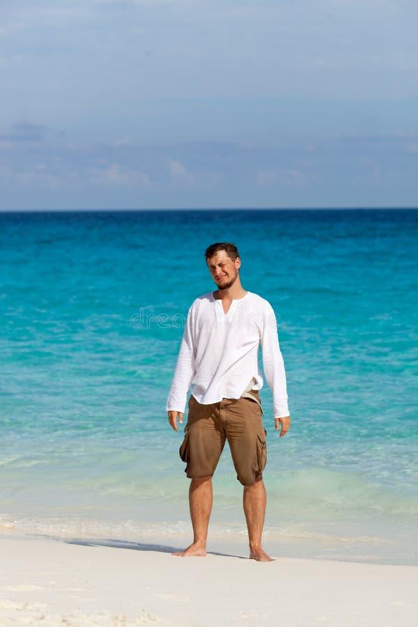 wesołych plażowi faceta obrazy stock