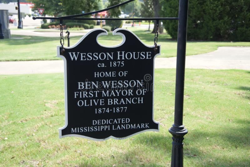 Wesson House Established 1875 Olive Branch, Mississippi royalty free stock photos