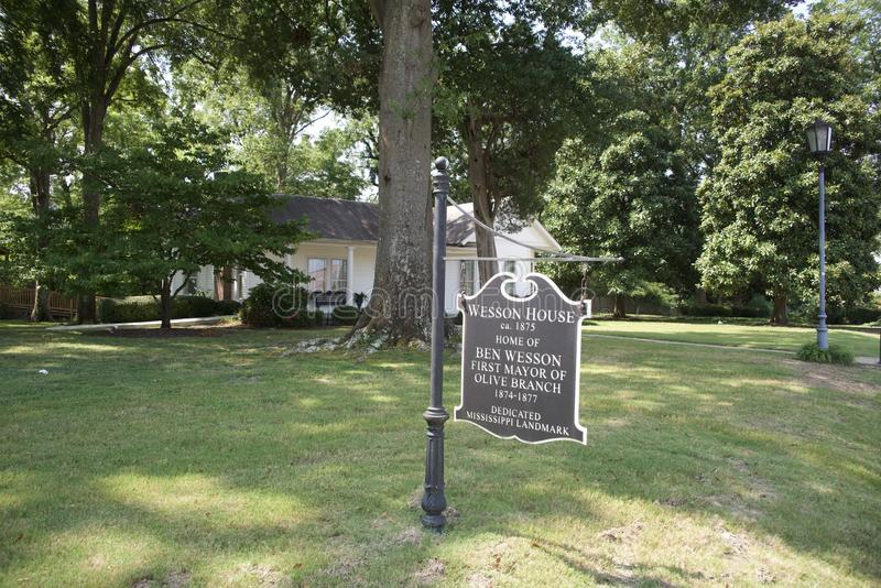Wesson House Sign Olive Branch, Mississippi royalty free stock photo