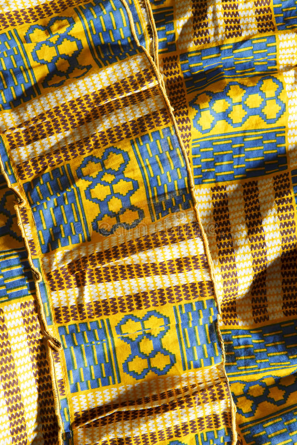 West African Fabric Stock Image