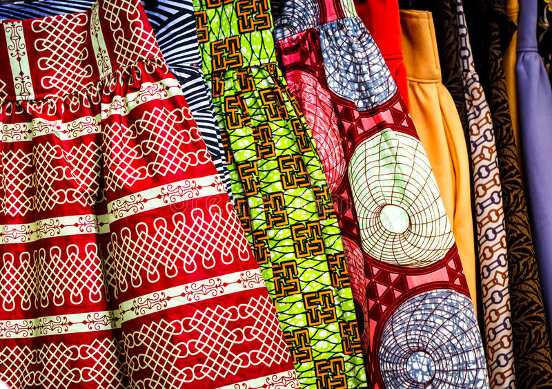 West African Fabric stock images