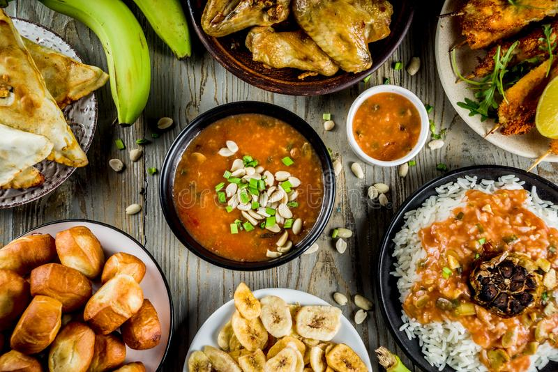 West african food assortment stock photography