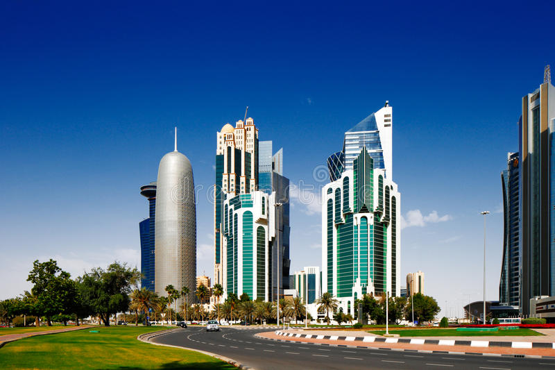 West Bay Is The Newly Developed Urban Center Of Doha, Qatar Stock Image