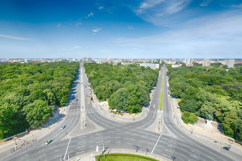 West Berlin as seen from the Victory Column royalty free stock photography