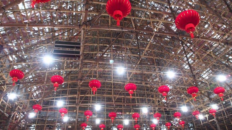 West-chinesisches Opernbambustheater Kowloons in Hong Kong stockfotos