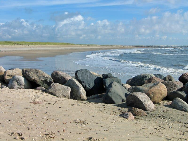 West coast of Denmark. Blavand in Denmark - sandy long strech for miles in the west coast royalty free stock photos