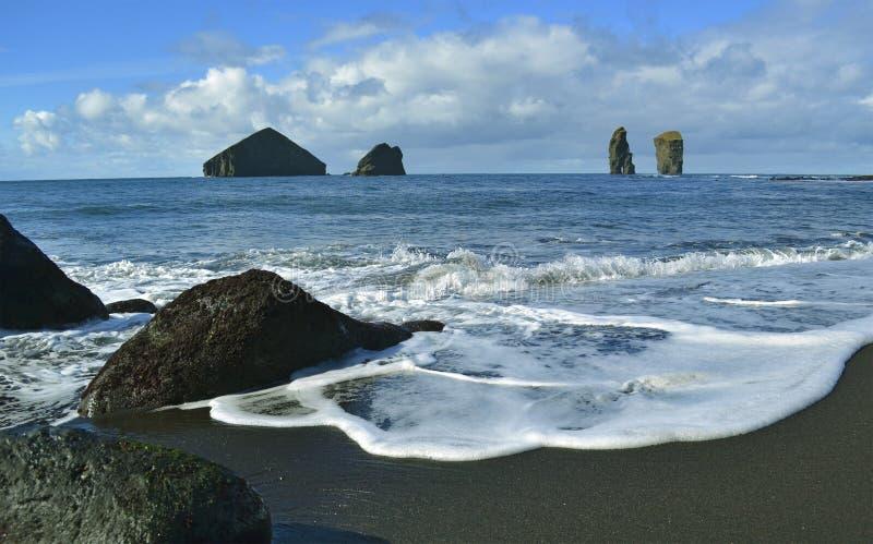 West coast near Mosteiros, Sao Miguel island, Azores royalty free stock photos