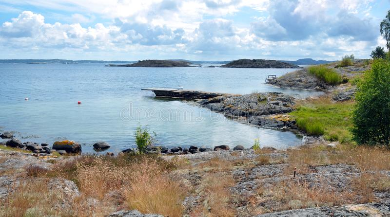 West Coast of Sweden during Summer royalty free stock image