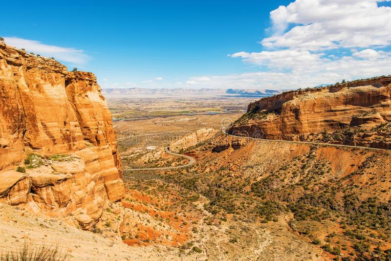 West Colorado Landscape. Grand Junction, Colorado, United States. Navajo Sandstone Formation in Colorado National Monument stock image