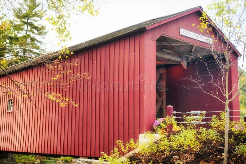 West Cornwall Covered Bridge New England stock photos