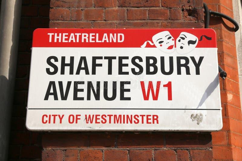 West End de Londres imagenes de archivo