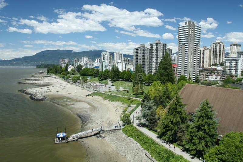 West End de Vancouver foto de archivo