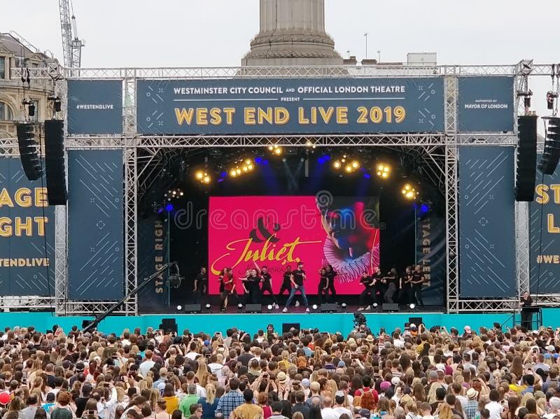 West End leben Juliet 2019 lizenzfreie stockbilder