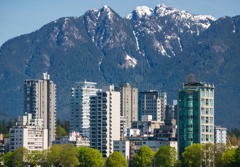 The West End of Vancouver royalty free stock images