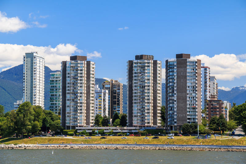 The West End of Vancouver royalty free stock image