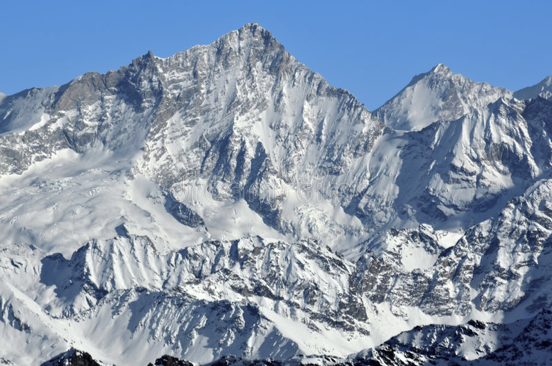 Download West face of the Weisshorn stock image. Image of sport - 7580917