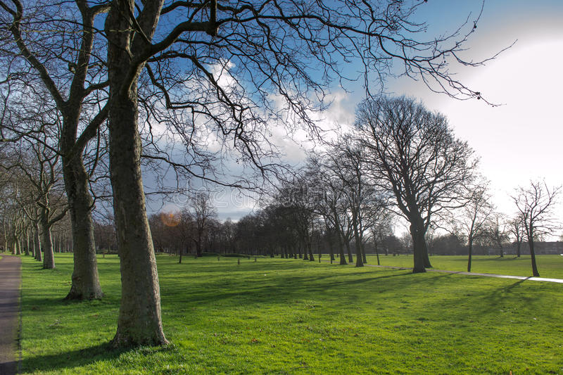 West Ham park of London in spring stock photo