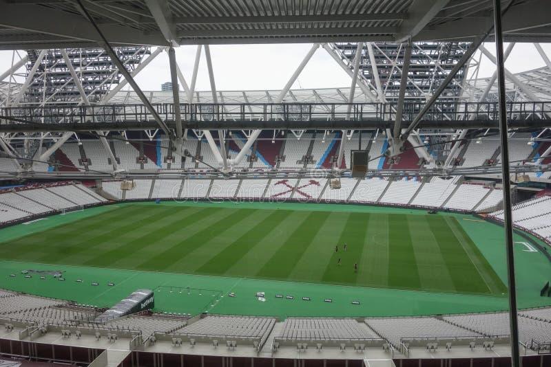 West Ham stadium in London stock images