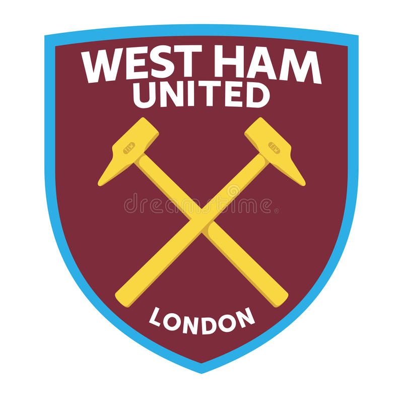 West Ham United. London, England Feb 24, 2017: Vector illustration of West Ham United F.C. logo