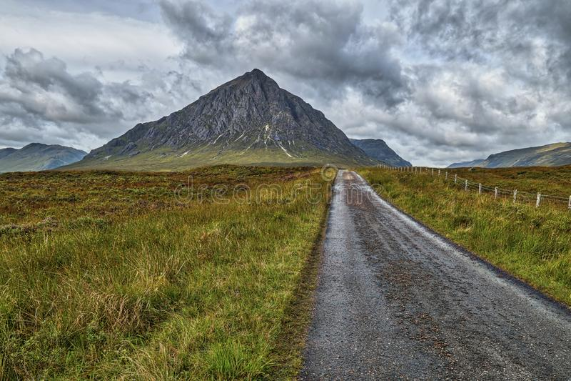 West Highland Way. In Scotland royalty free stock photo