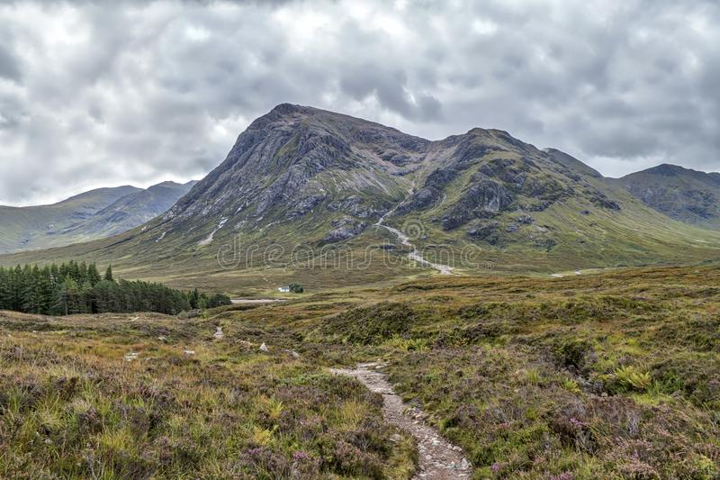 West Highland Way. In Scotland royalty free stock photos