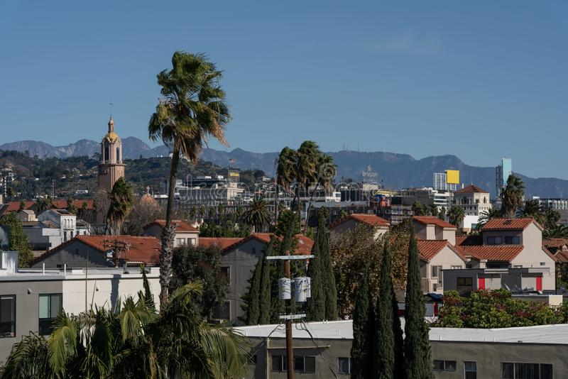 West Hollywood in California on a sunny day royalty free stock images