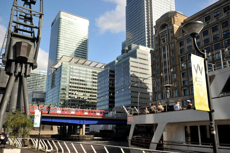 West India Quay in London , Canary Wharf estate. West India Quay is a leisure complex in Limehouse in East London in the London Borough of Tower Hamlets. It is royalty free stock photos