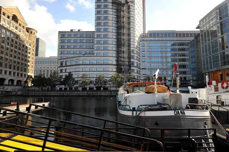 West India Quay in London , Canary Wharf estate. West India Quay is a leisure complex in Limehouse in East London in the London Borough of Tower Hamlets. It is stock photo