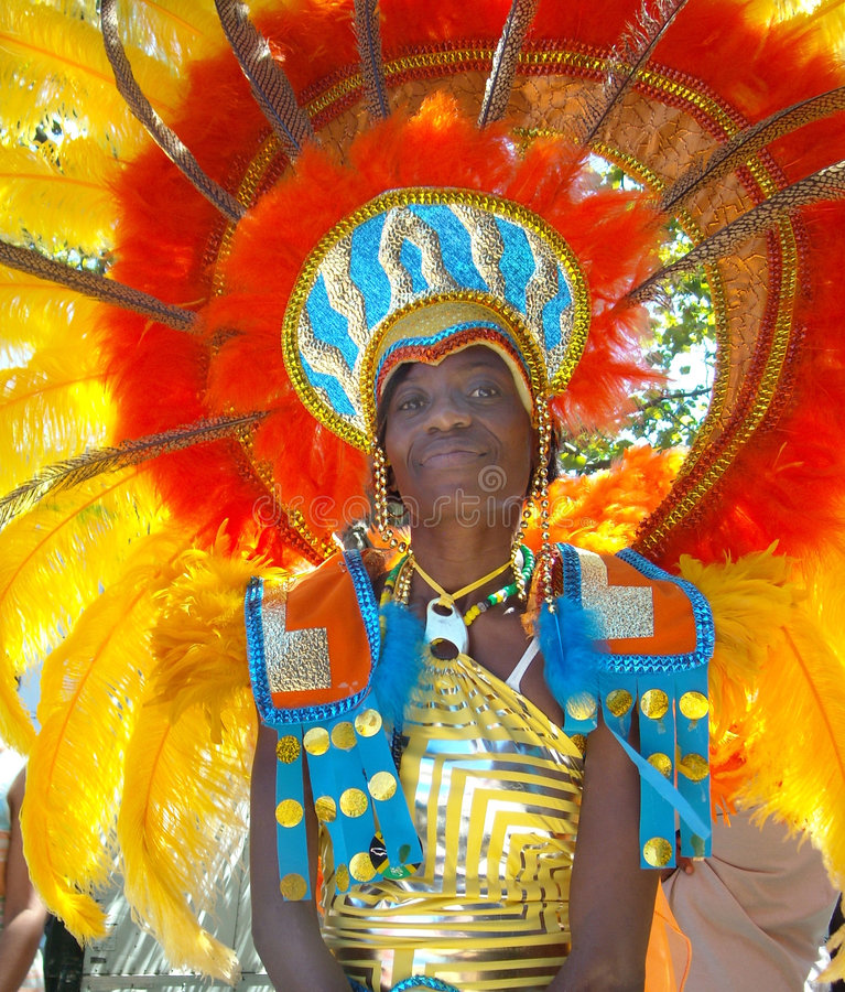 West Indies Carnival Parade New York USA stock photo