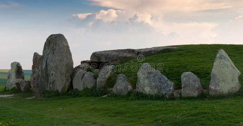 West Kennet Longbarrow royalty free stock image