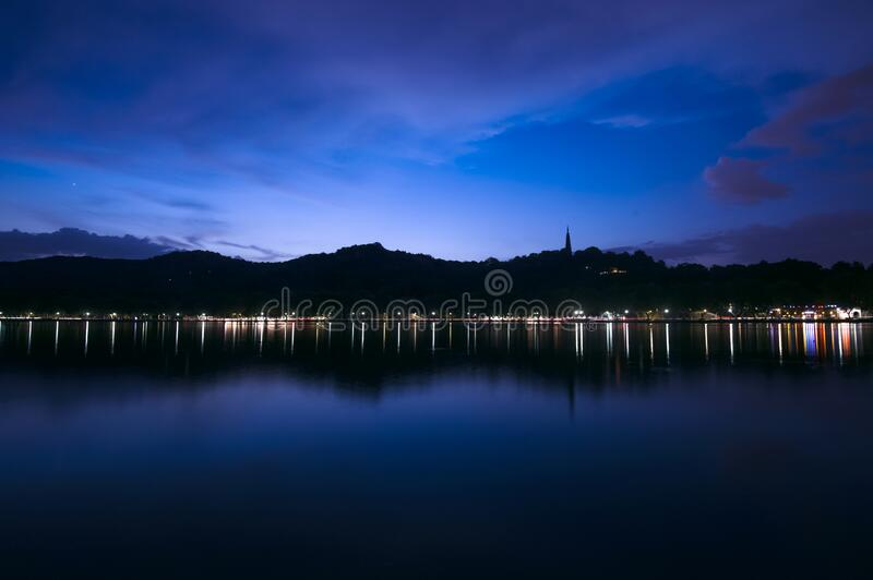West Lake of Hangzhou. West Lake, located in the west of Hangzhou, Zhejiang Province, is one of the first national key scenic spots in China and one of China`s stock image